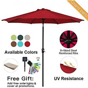 Top 10 Best Patio Umbrella For Wind Reviews Ing Stand