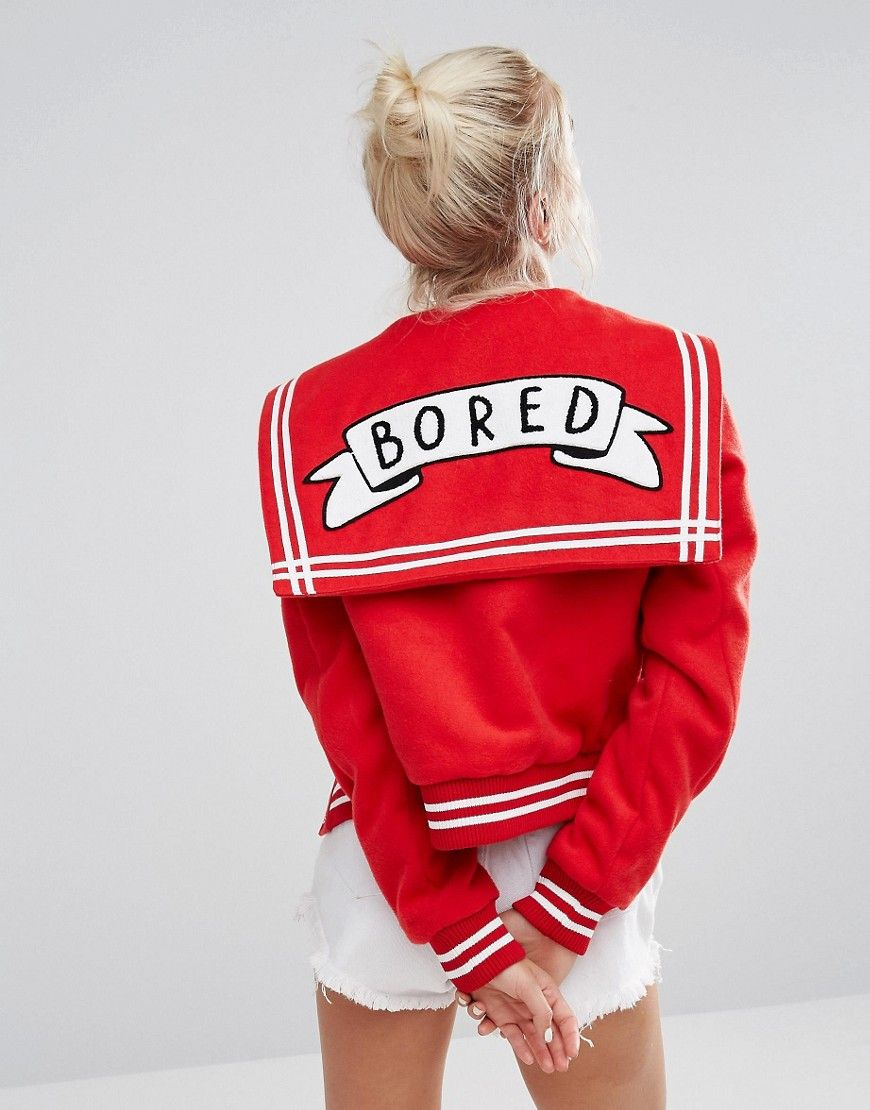 A little bit varsity, a little bit sailor and, most importantly, sassy as hell. Show off your usually-well-disguised IDGAF mood with this spenny treat