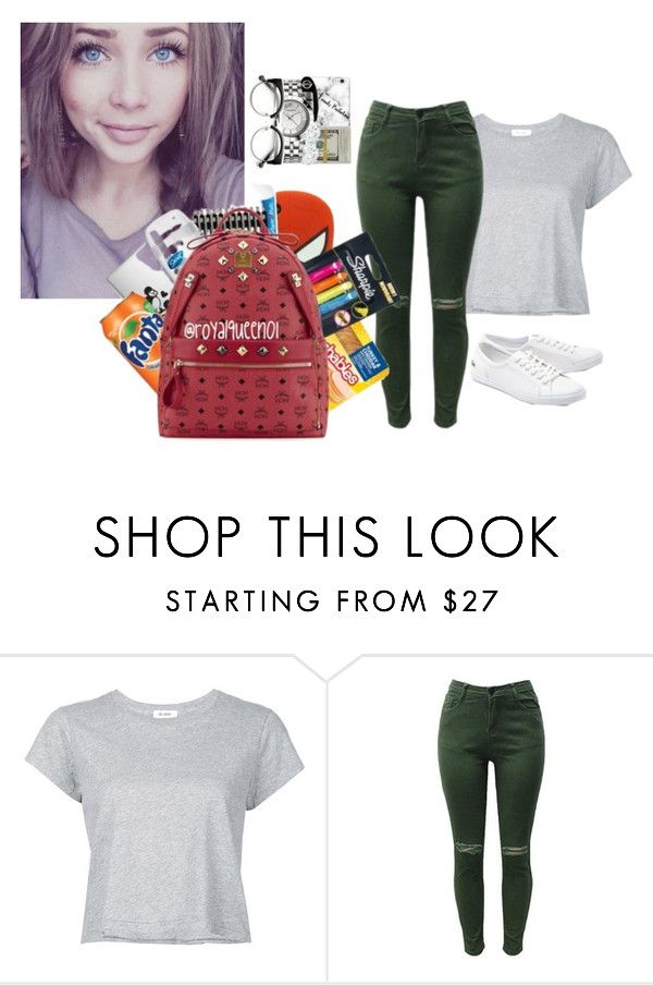 """i# it like  so rude to  look at someone  for  along  time"" by inspiredbyart345 ❤ liked on Polyvore featuring RE/DONE and Lacoste"