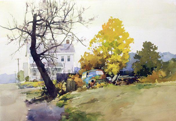 William Vrscak Watercolor Landscape Watercolor Artists