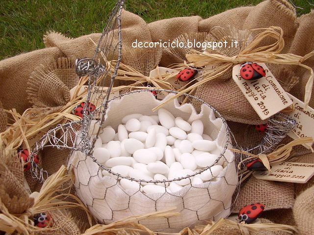 Teiera porta confetti fatta di fil di ferro e rete da for Conigliera da interno