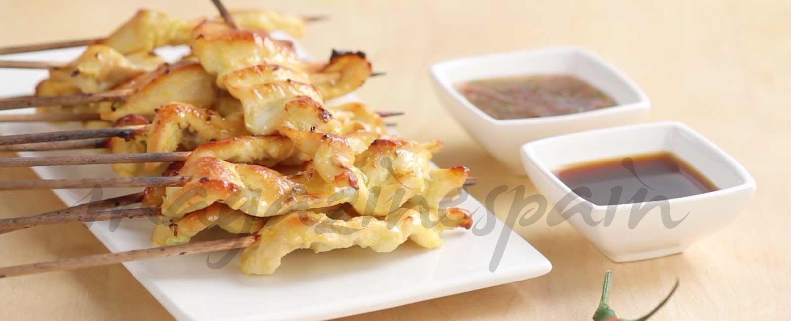 brochetas de pollo thai | Vídeo cocina con Magazinespain | Pinterest ...