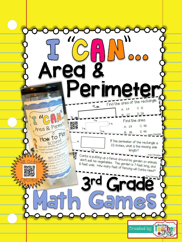 3rd Grade Area And Perimeter Game