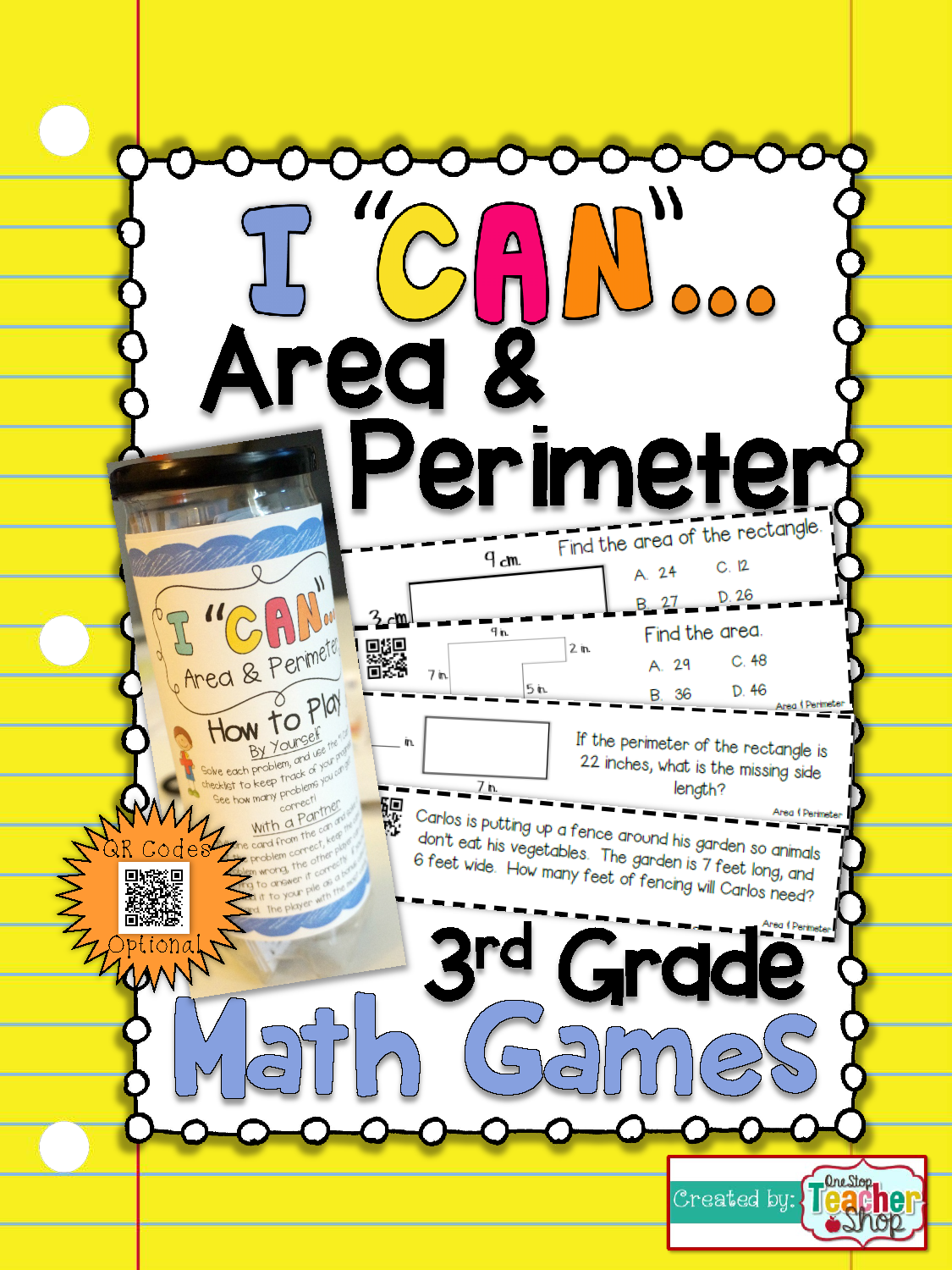 3rd Grade Area And Perimeter Game