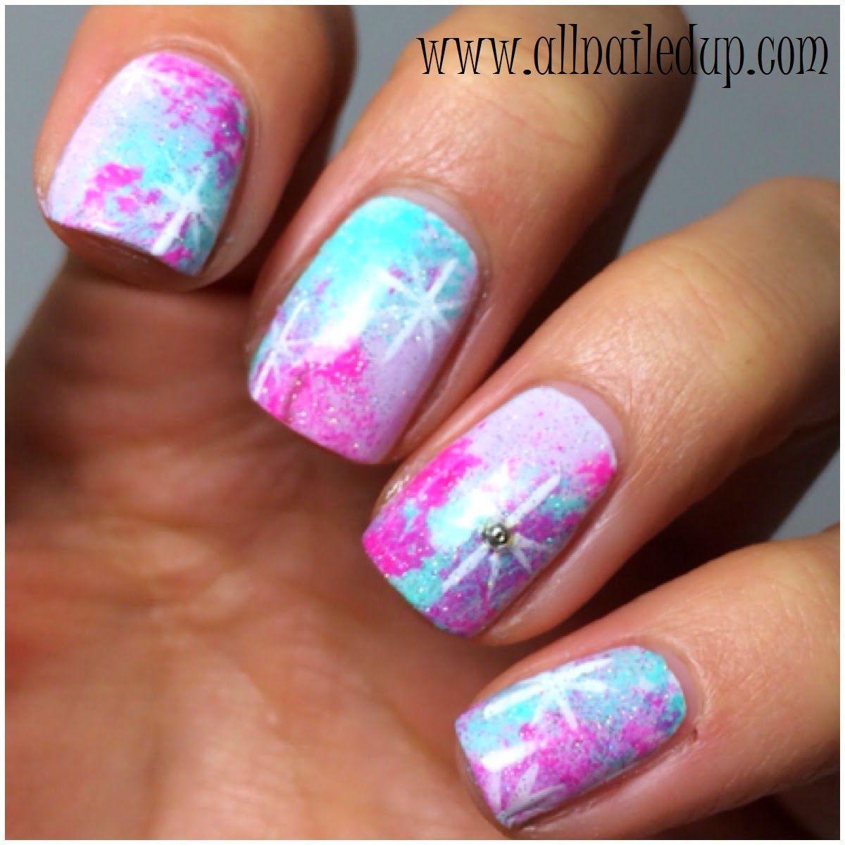A different take on Galaxy nails | Nails | Pinterest | Galaxy nail ...