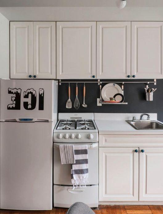 One Wall Kitchenette Basic But Shows Fridge Stove Counter Sink Order Bottom Small Kitchen Design Apartment Tiny House Kitchen Small House Kitchen Design