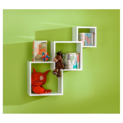 Dolle Cascade Floating Boxes Wall Shelf White White Wall
