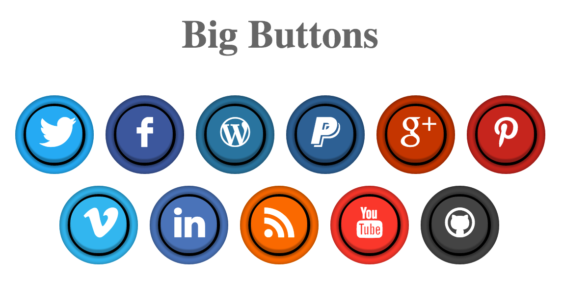 Pure CSS Social Arcade Buttons Arcade buttons, Css, Pure
