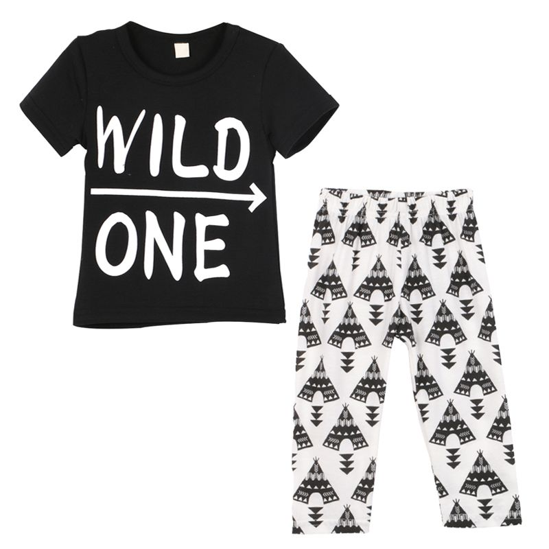 c5411e7d1392 Clothing · Children Baby Boys Clothes Short Sleeve T-shirt With Pants Suit  Clothing Set ...