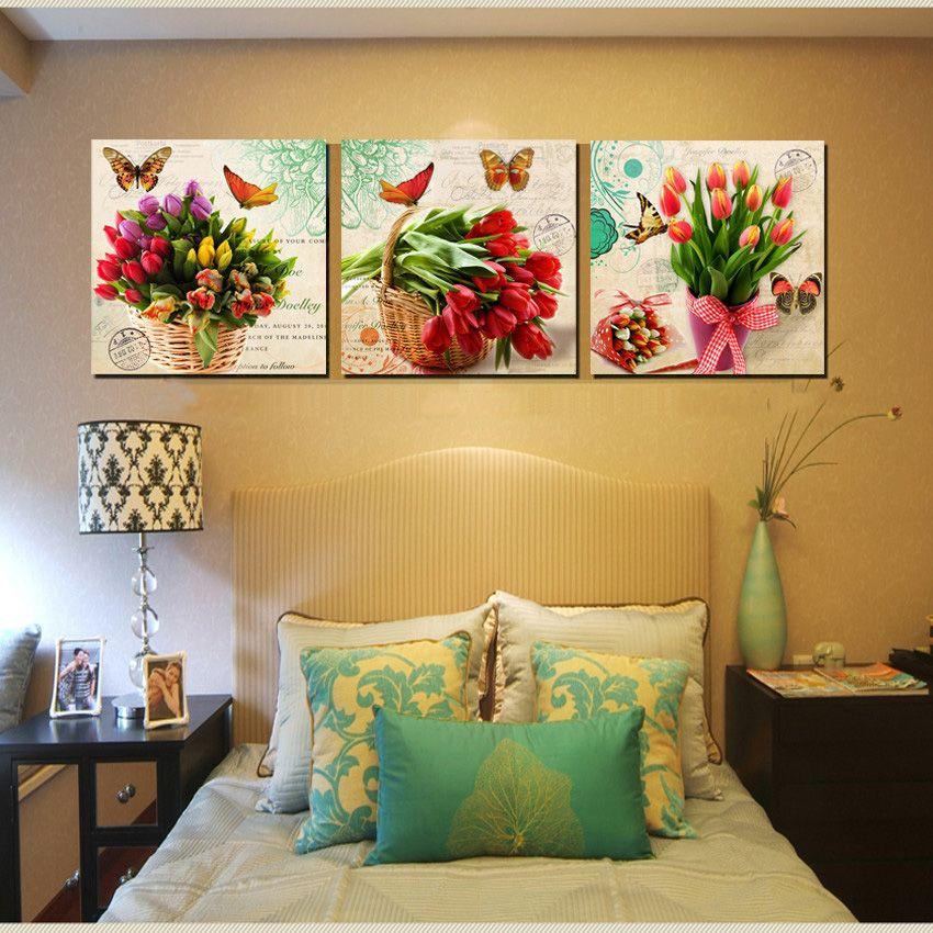 Modern-Bunch-font-b-Floral-b-font-font-b-Canvas-b-font-Prints-Tulips ...