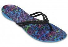 Crocs modré žabky Isabella Graphic Flip Multi Leopard - 899 Kč ... ddfecac2e7