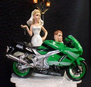 Motorcycle Wedding Cake Topper Crotch Rocket Funny Groom