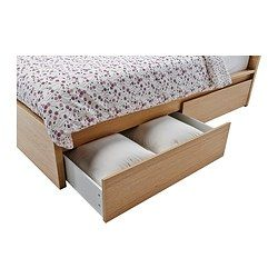 Malm Cadre Lit Haut 4rgt Plaque Chene Blanchi 160x200 Cm Ikea Malm Bed Frame High Bed Frame Malm Bed