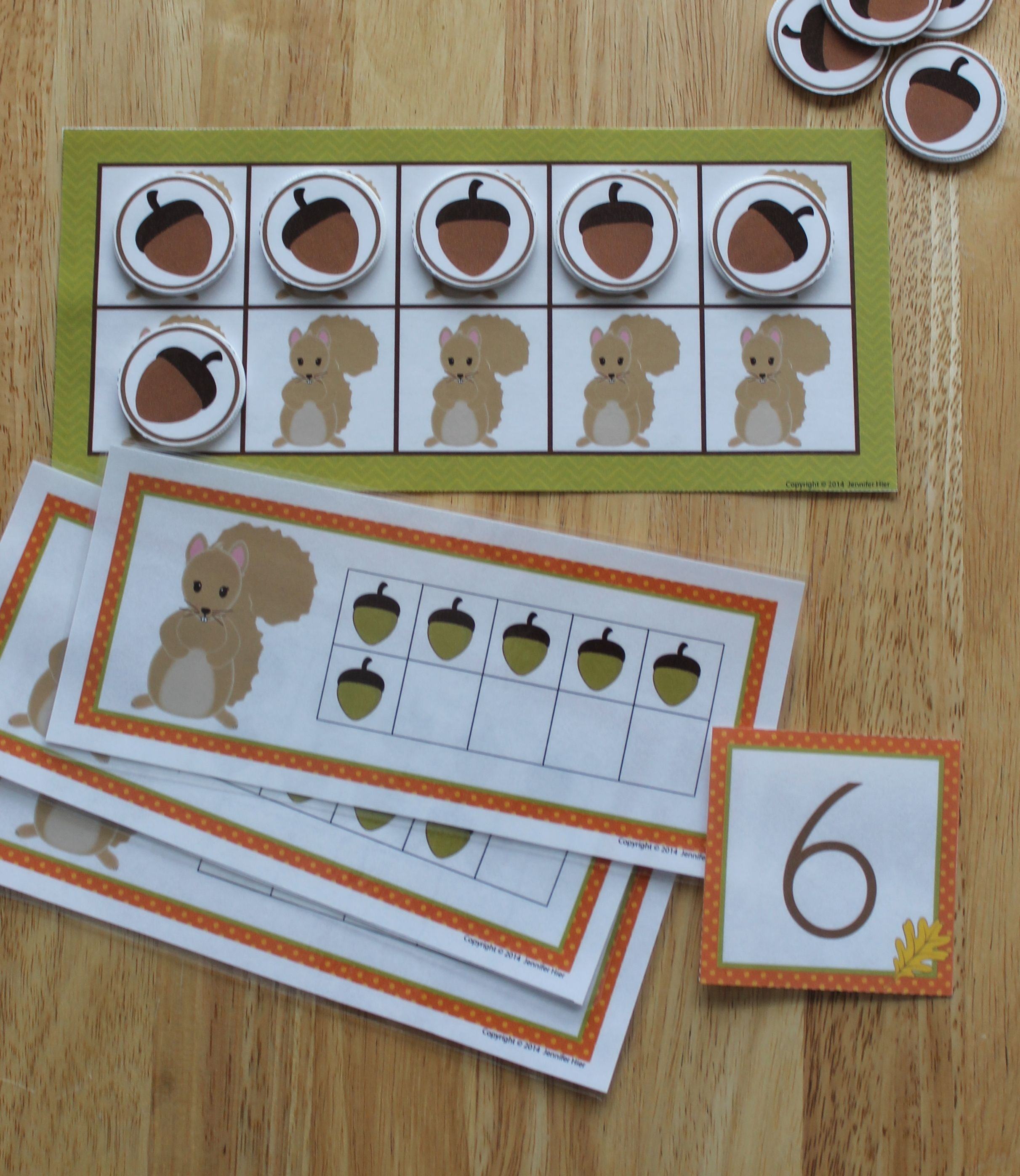 Squirrel And Acorn Math Activities For Preschool And