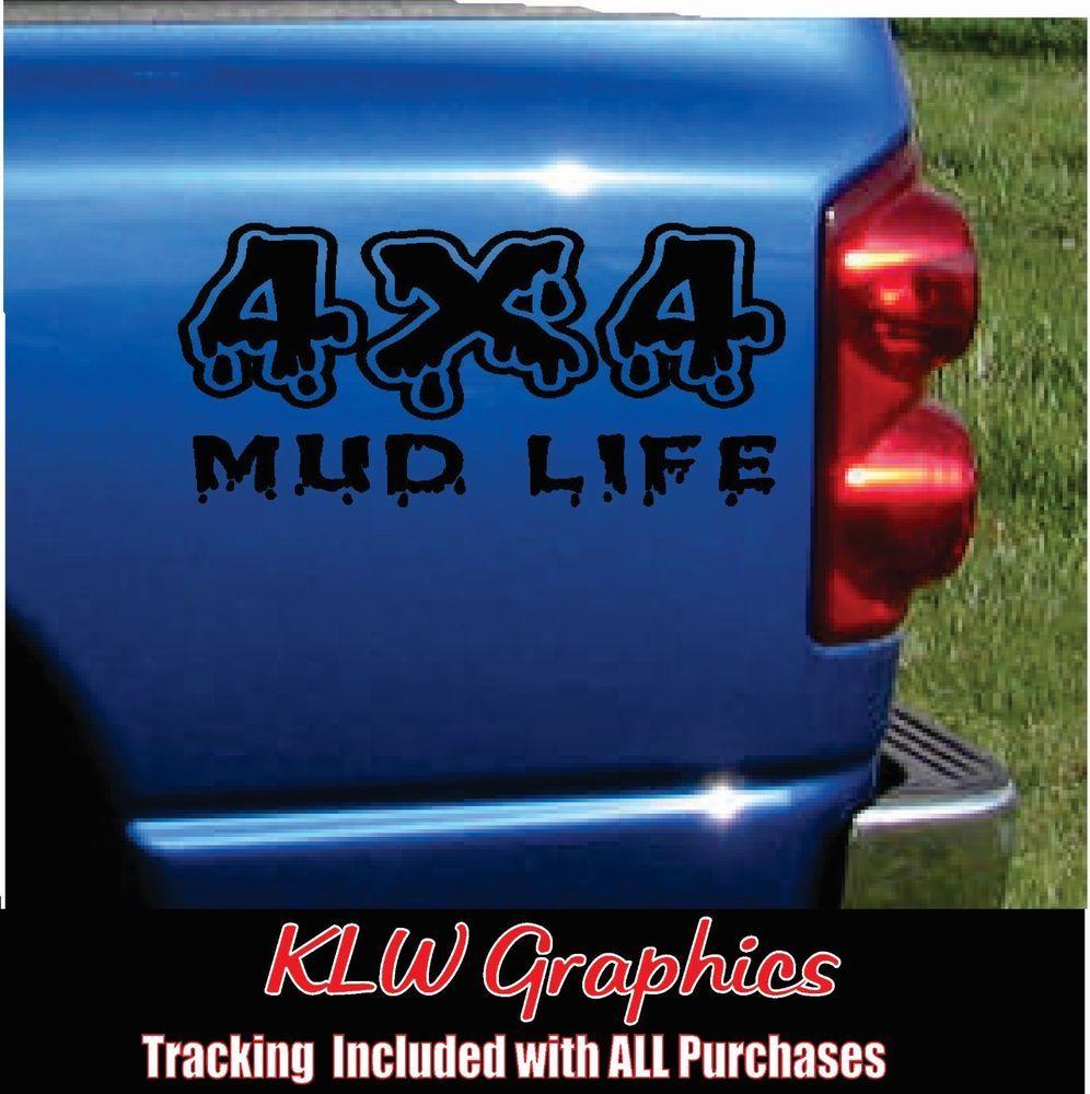 4x4 Mud Vinyl Decal Sticker Diesel Truck Crew Cab 1500 2500 Off Road Ebay Vinyl Decal Stickers Vinyl Decals Diesel Trucks [ 1000 x 996 Pixel ]