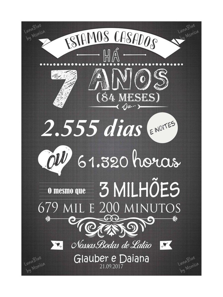 Chalkboard Bodas De Latao Arte Digital No Elo7 Lunablue Store