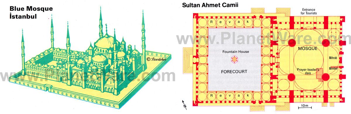 Istanbul Blue Mosque Floor Plan Map Blue Mosque Istanbul Mosque