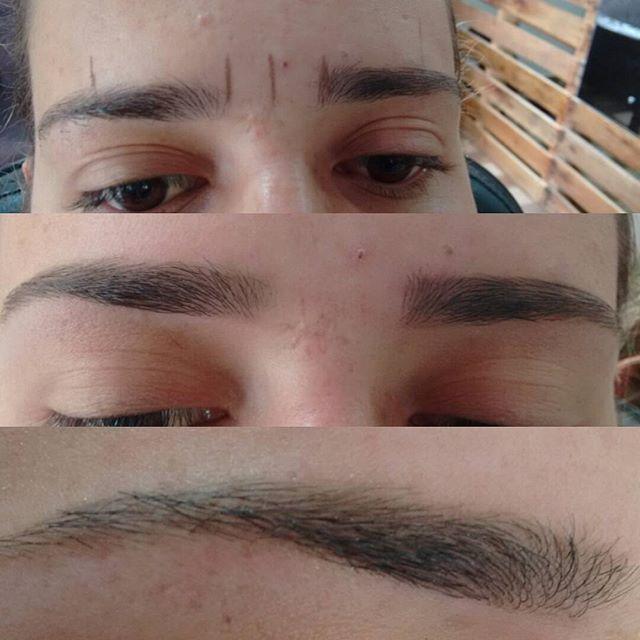 Brows by me! Design realizado com a técnica da depilação egípcia (com linha) e…