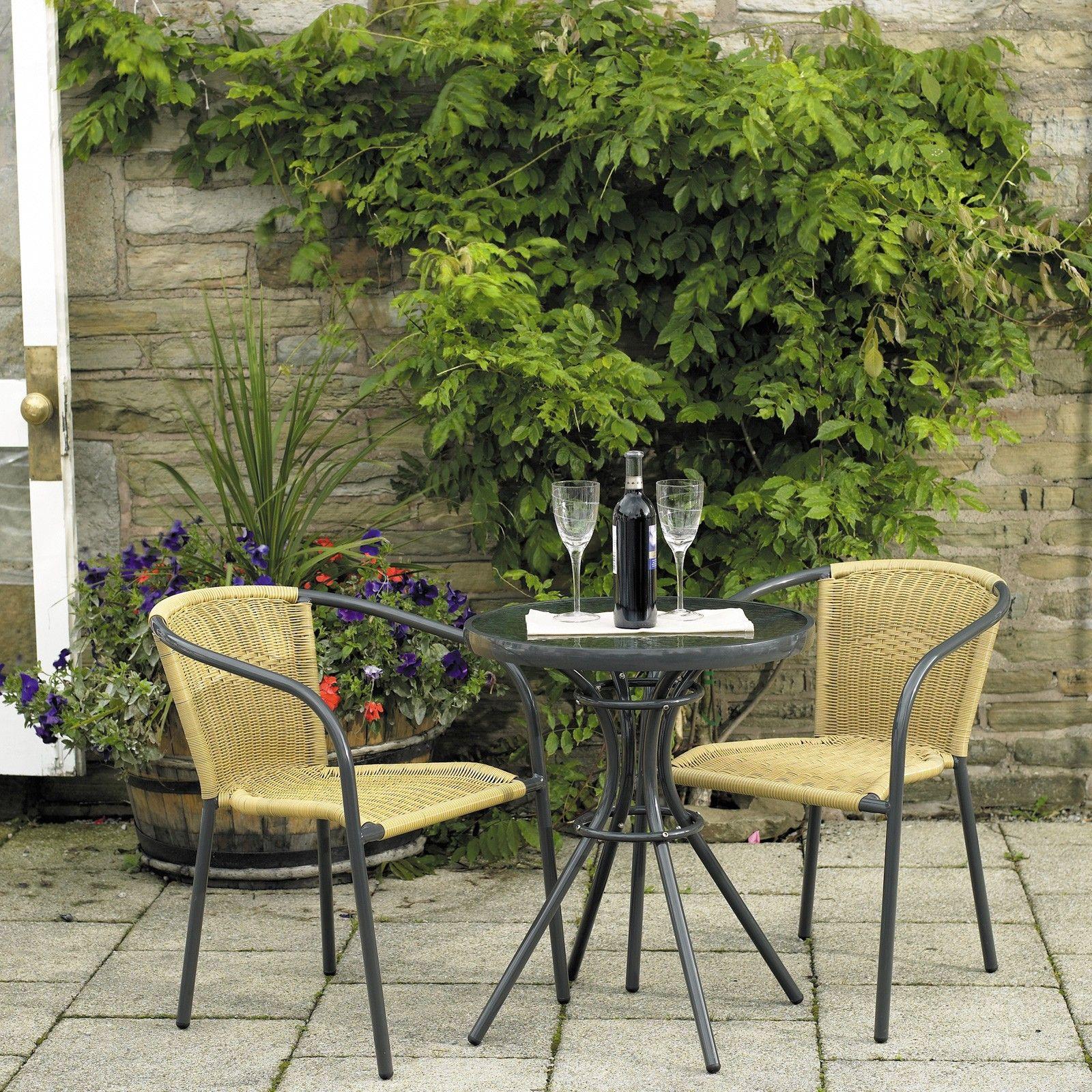Small garden bistro table - Paris Bistro Set Patio Gardenssmall