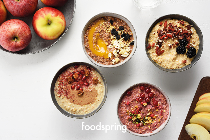 Was ist besser als ein Porridge? Vier davon.