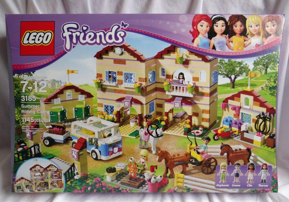 Nib Lego Friends Set 3185 Summer Riding Camp Horse Barn Stables New Sealed Box Lego Friends Sets Lego Friends Lego