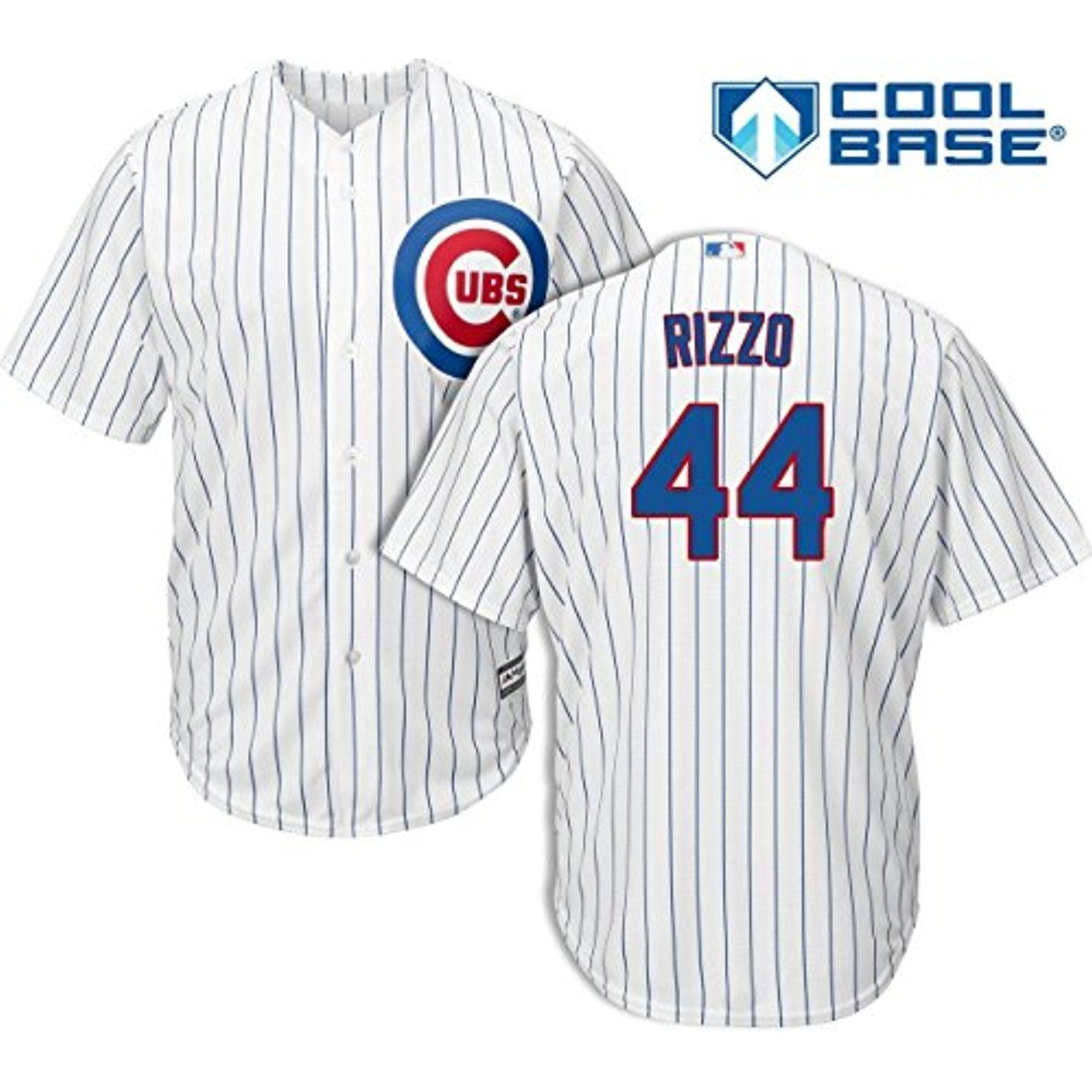 9d58257cb Anthony Rizzo Chicago Cubs MLB Majestic Kids White Home Cool Base Replica  Jersey (Size 5