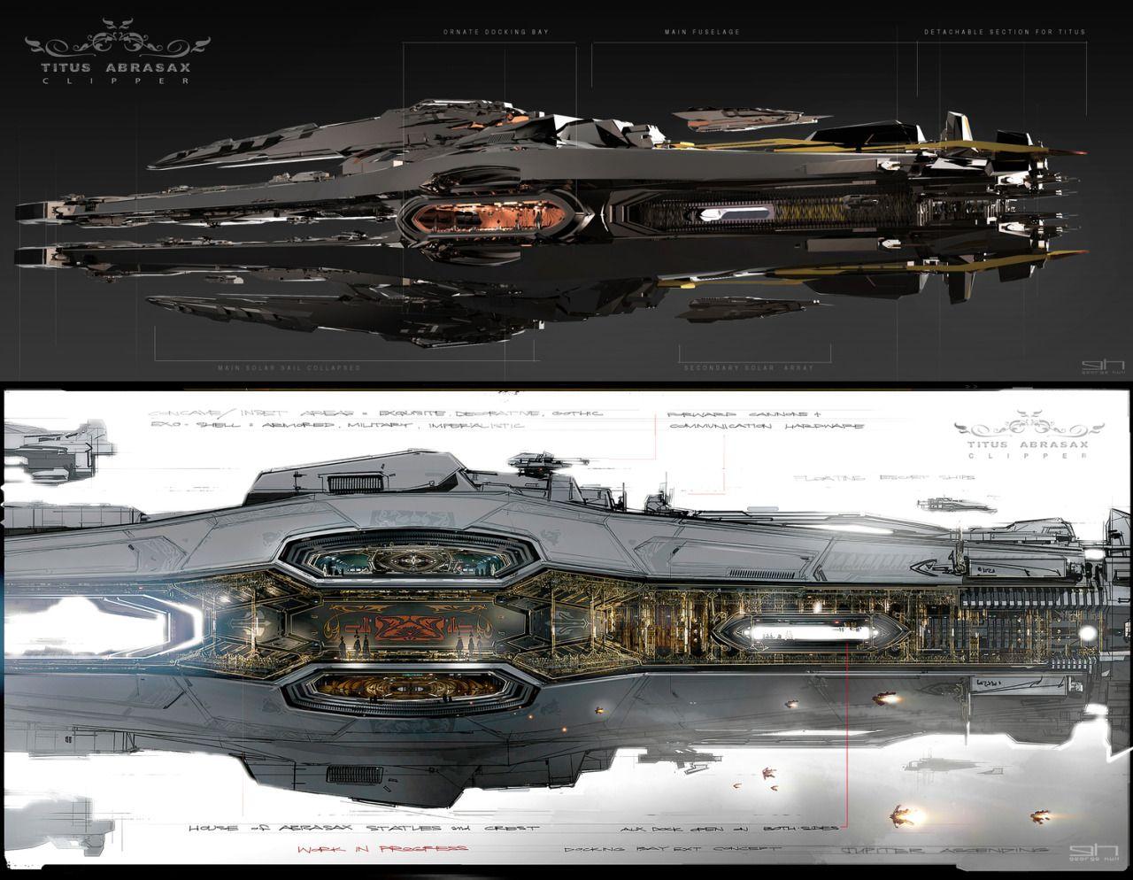 Jupiter Ascending Starships Concept Art Sci Fi Design Concepts