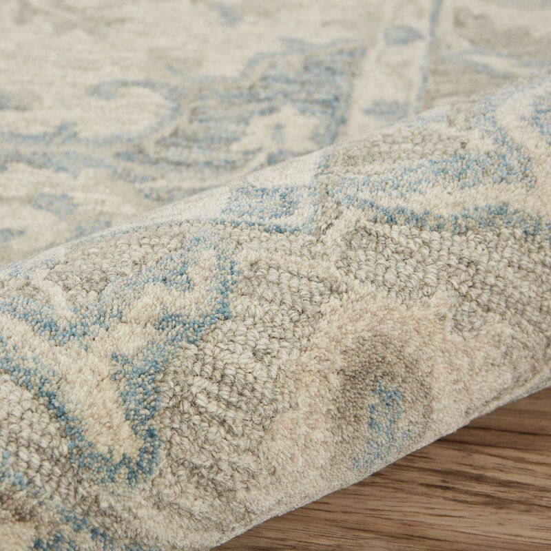 Adelbert Oriental Handmade Tufted Wool Cotton Turquoise Gray Area Rug In 2020 Grey Area Rug Hand Tufted Rugs Colorful Rugs