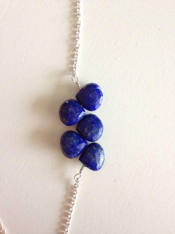 Lapis Lazuli Necklace par RefinedRock sur Etsy, $50.00
