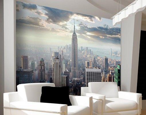 fotobehang newyork slaapkamer idee slaapkamer pinterest