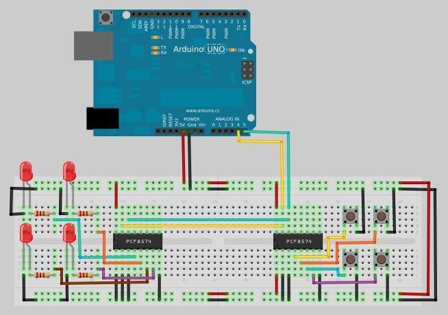 tutorial arduino i  o port expander with pcf8574