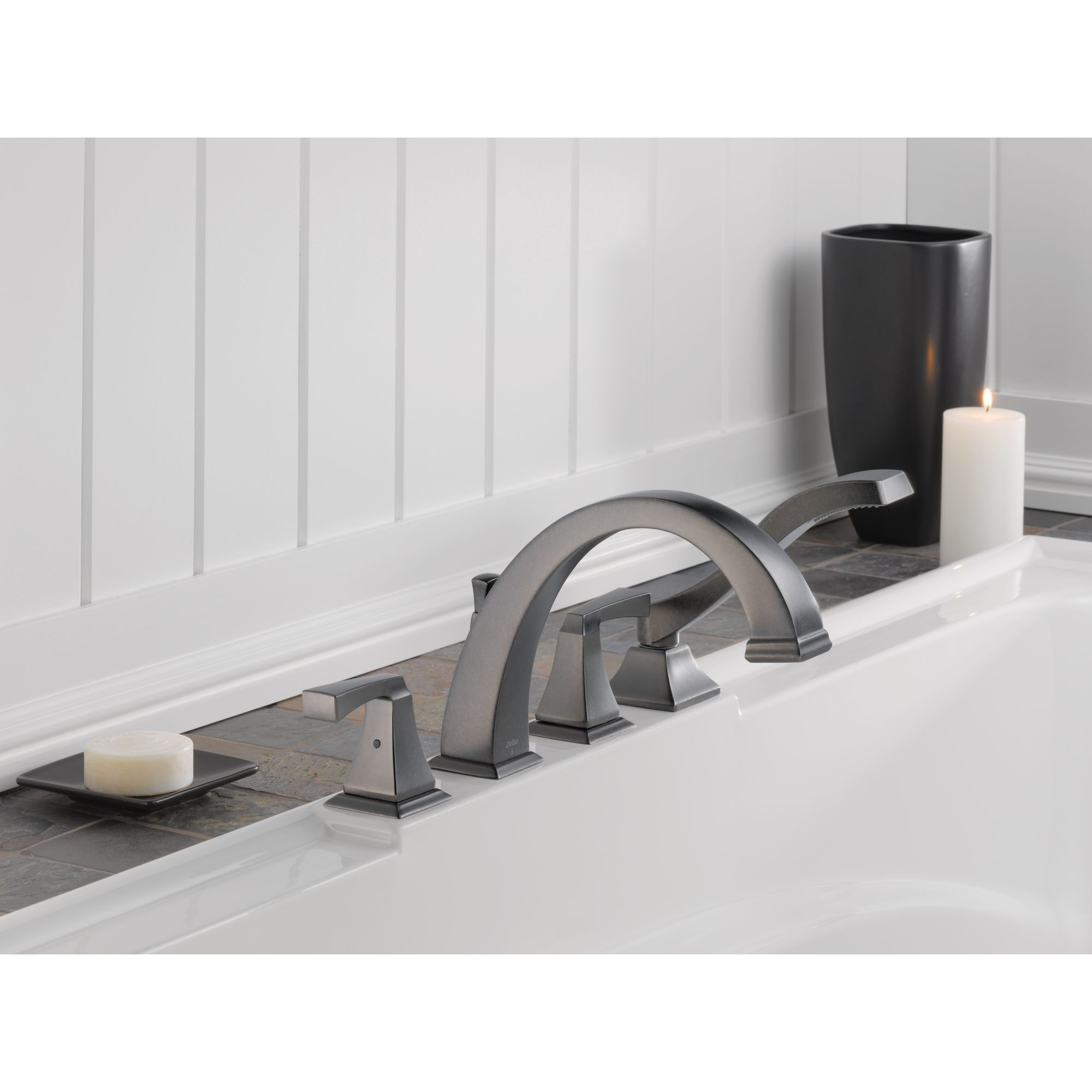 Delta Dryden Roman Tub faucet with hand shower | New Home ...