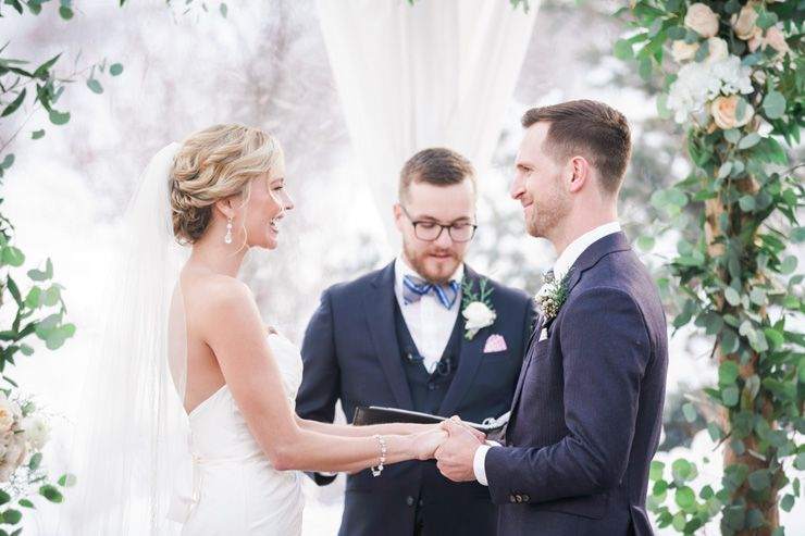 Winter wedding ceremony | fabmood.com
