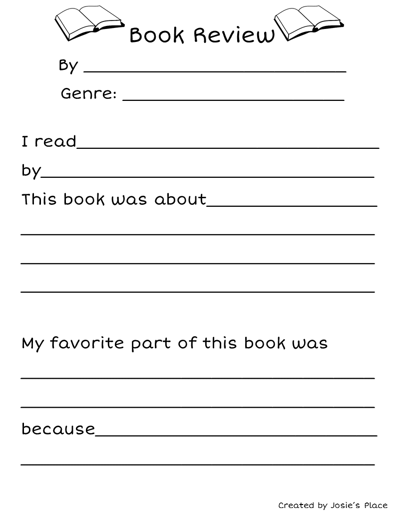 hight resolution of FREE Book Review for Kids!   Book review template