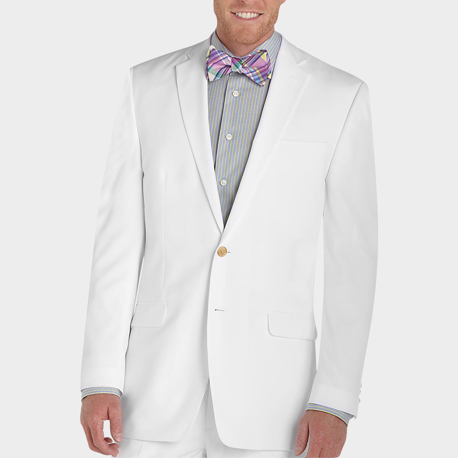 Lauren By Ralph Lauren Cream Seersucker Suit Men S Wearhouse