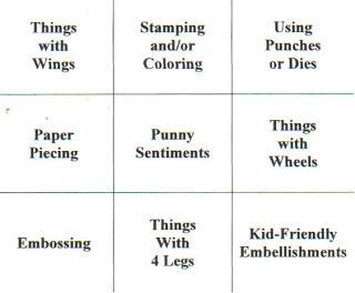 Image result for Craft challenge bingo card