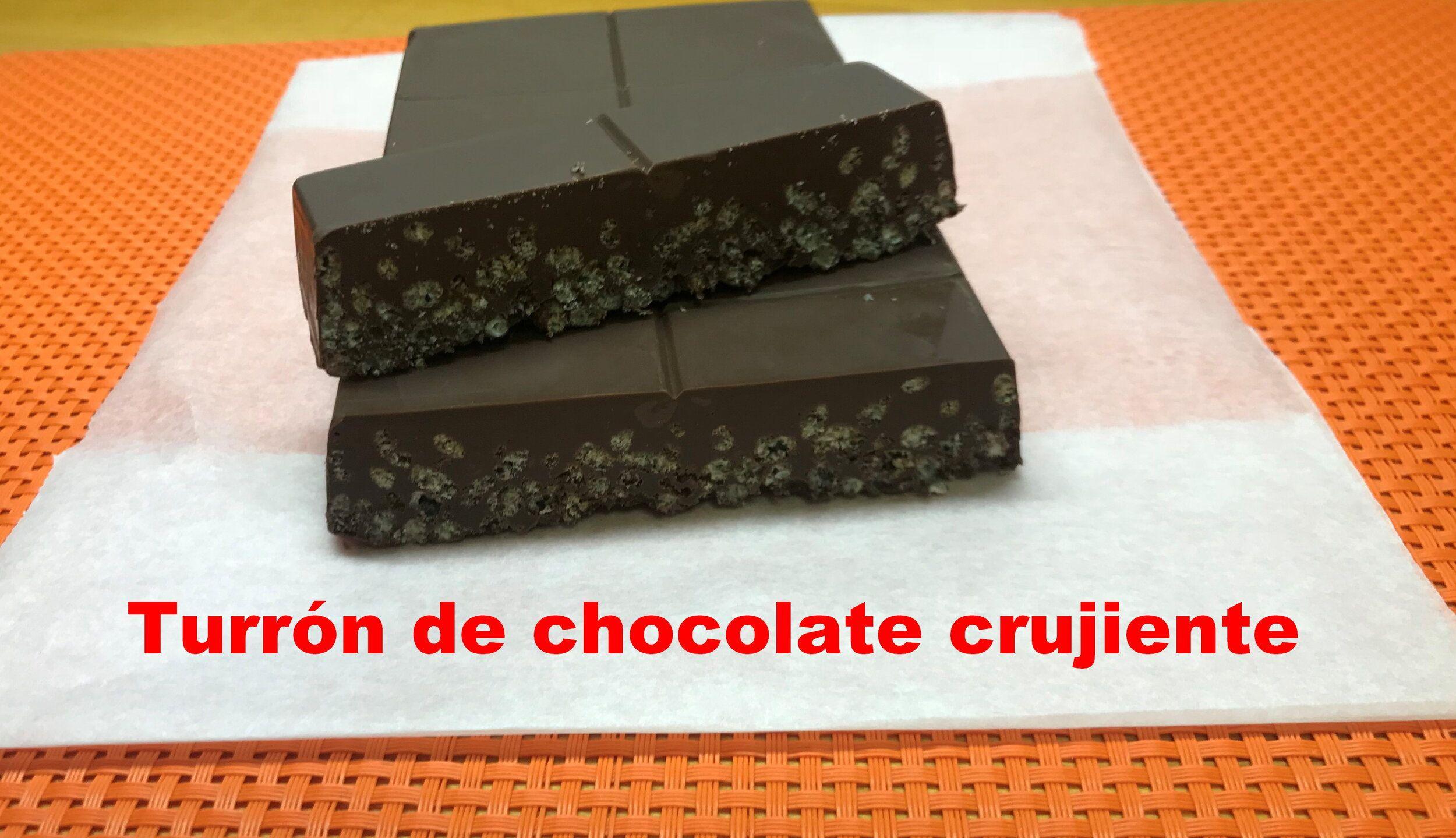 Turrón de chocolate crujiente — Cocinando a mi manera