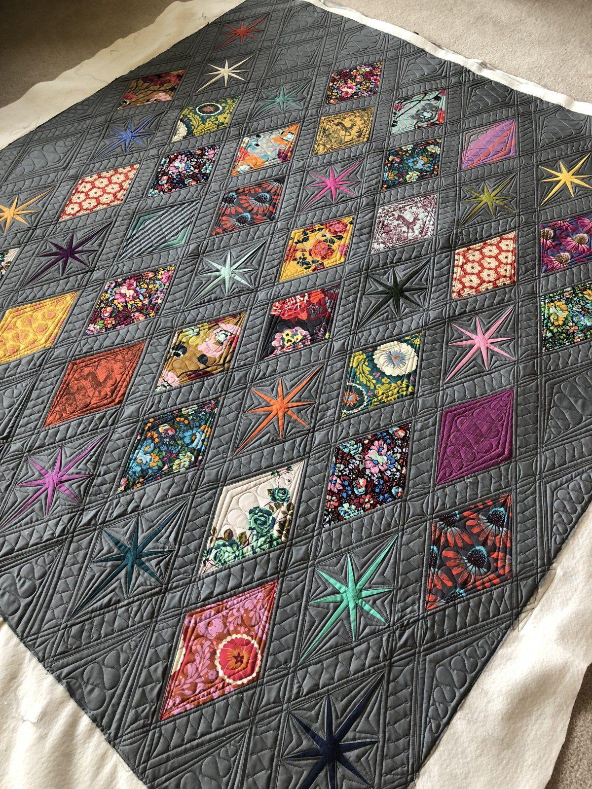 Atomic Starburst Quilt Kit Anna Maria Horner 62 x 66 #modernquiltingdesigns