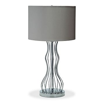 Ordinaire Metal Curves Lighting Table Lamp   Value City Furniture #VCFisSweet