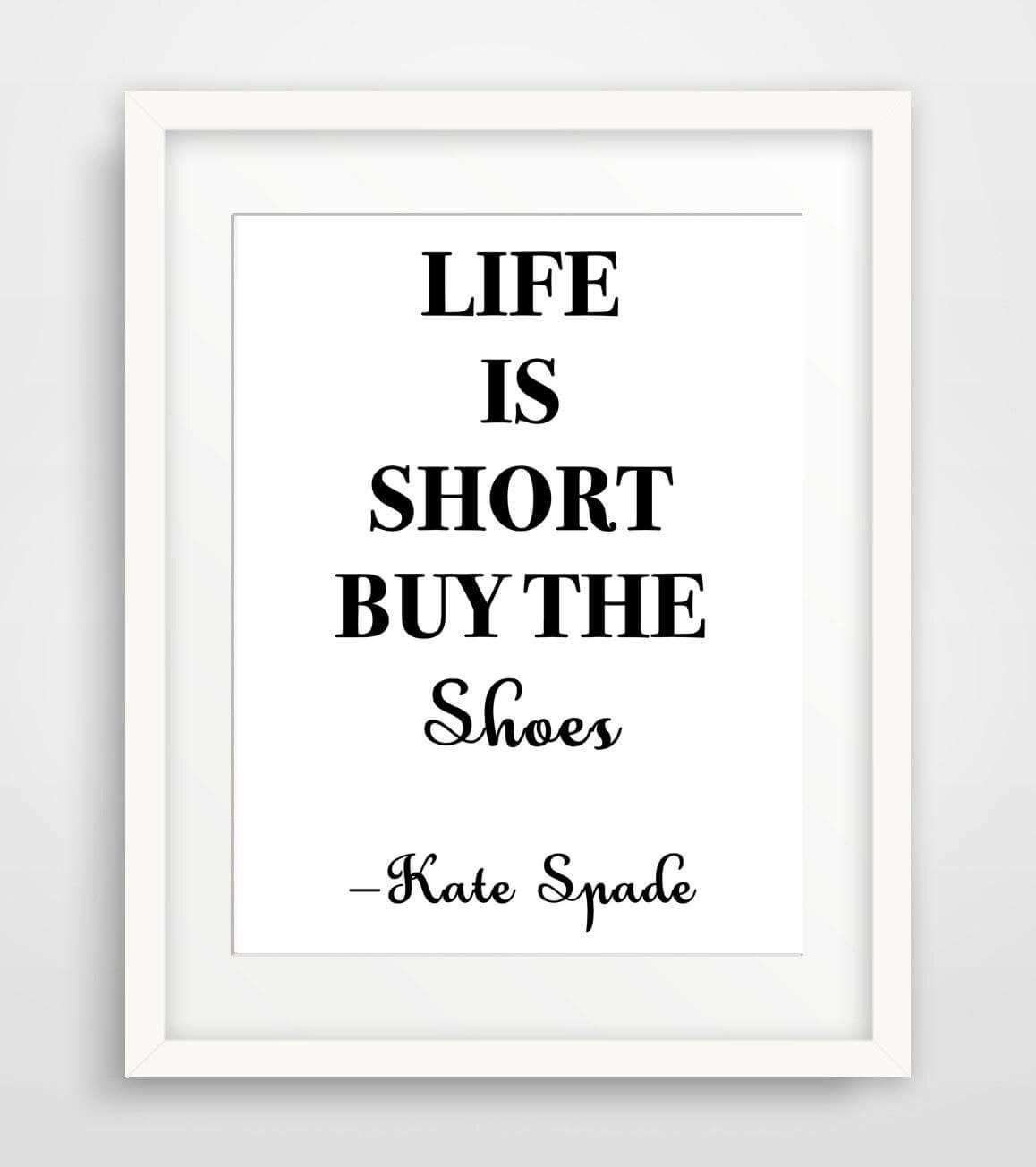 Finest Kate spade print quote inspired decor printable wall art poster  QR86