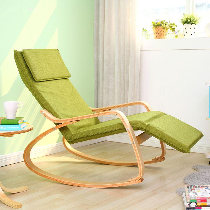 DALEO CASA IKEA stylish solid wood rocking single fabric ...