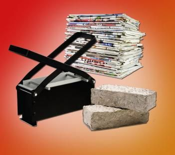 Paper fire starter log maker starters logs and upcycle paper fire starter log maker teraionfo
