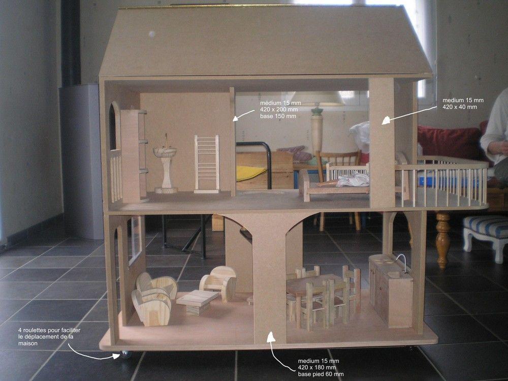 plans de maison et mobilier pour barbie et pour poup e plus grandes plans de fermes de diver. Black Bedroom Furniture Sets. Home Design Ideas