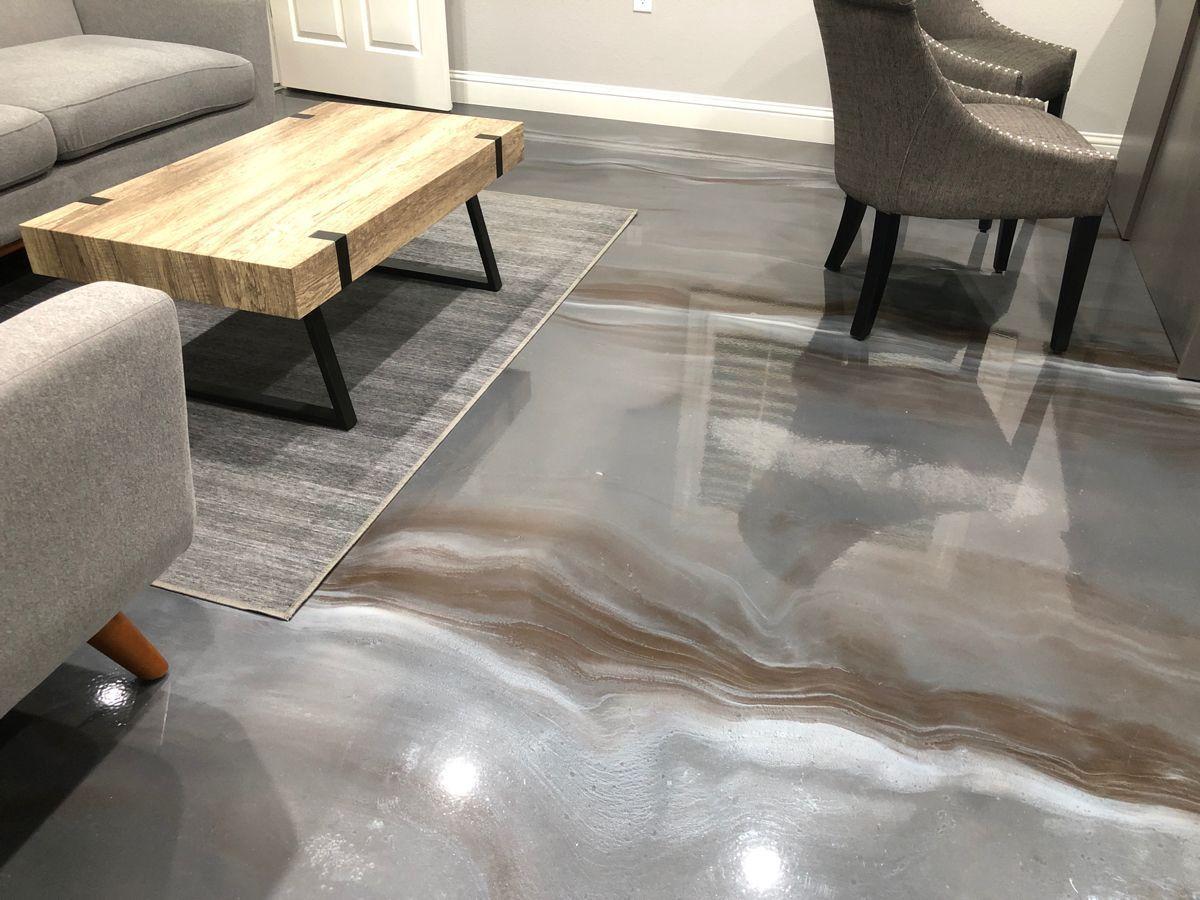 Metallic Epoxy Office Floor In 2020 Metallic Epoxy Floor Epoxy Floor Coating Epoxy Floor
