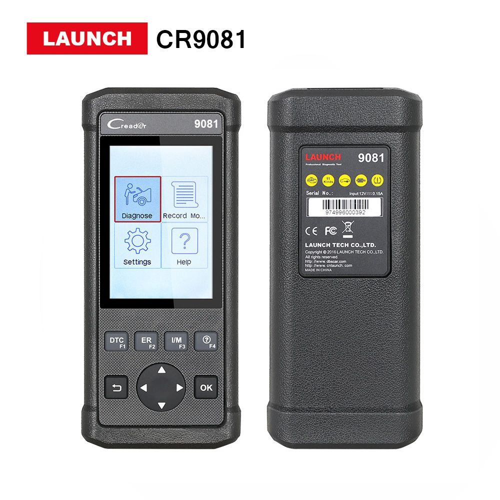 Launch CReader CRP9081 OBD2 Scanner with TPMS Oil,EPB,DPF,ABS,SAS