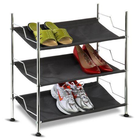 Honey Can Do 3 Tier Canvas Shoe Rack Shoe Rack 3 Shelf Shoe Rack 3 Tier Shoe Rack