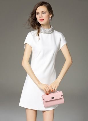 White cotton summer dresses casual