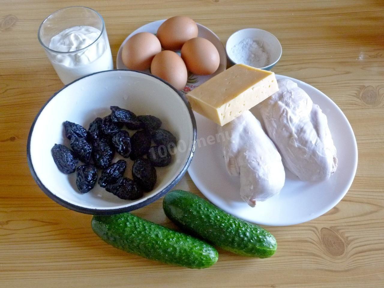Салат Дамский каприз с курицей и черносливом | Рецепт ...