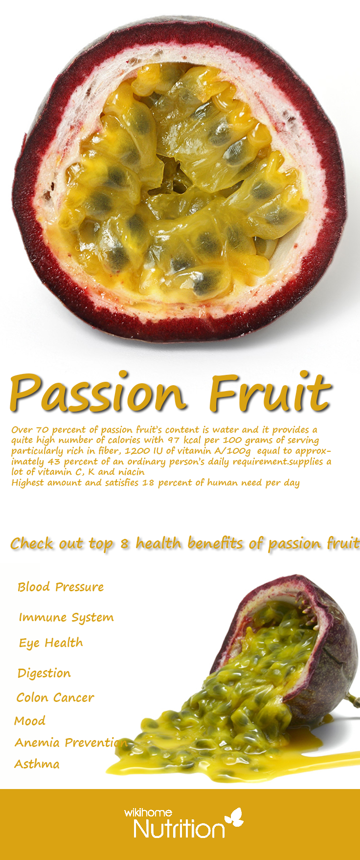 Passion Fruit Nutrition Facts And Health Benefits Fruit Benefits Nutrition Health Food