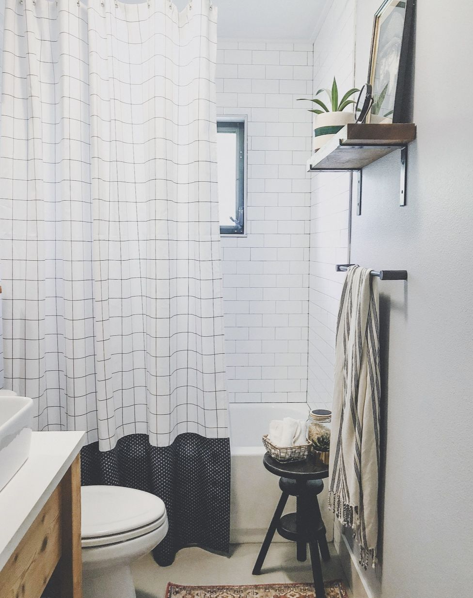 Create A Longer Shower Curtain Without Sewing In 5 Easy Steps